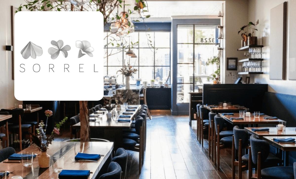 Sorrel restaurant and logo