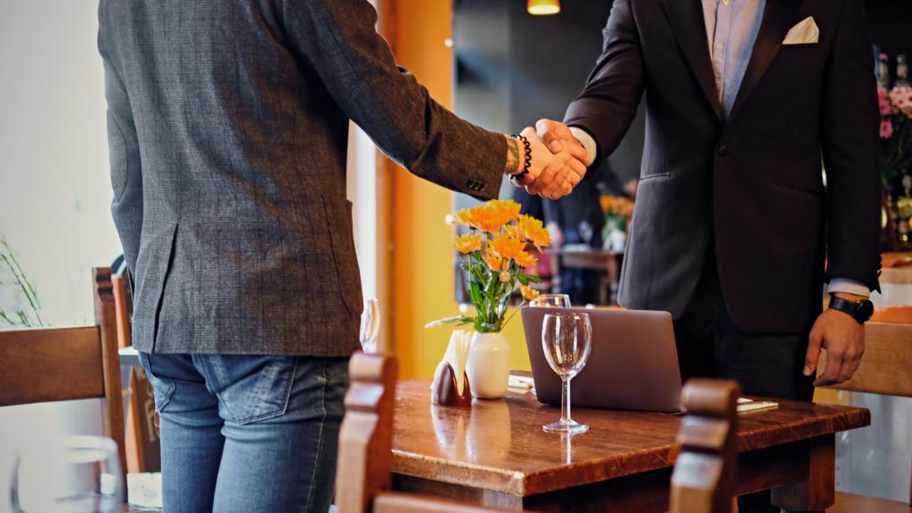 Handshake when buying a restaurant
