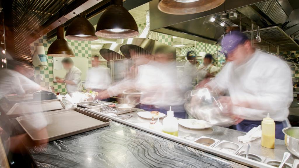 Busy Restaurant Employee