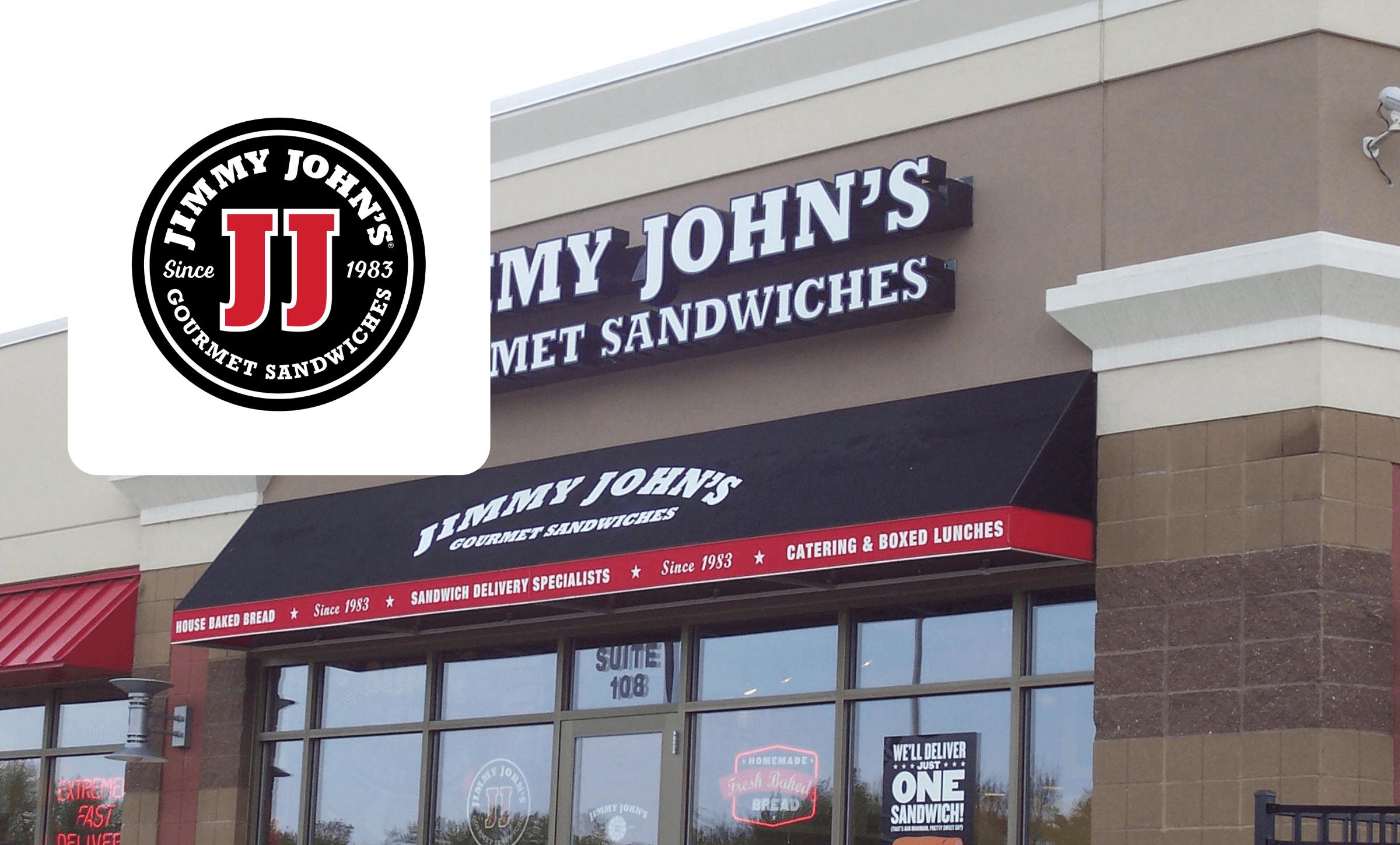 Jimmy John's storefront and logo