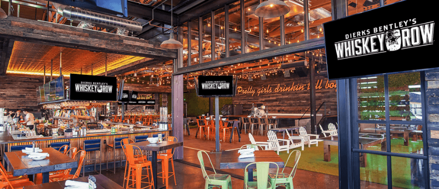 Dierks Bentley Whiskey Row interior