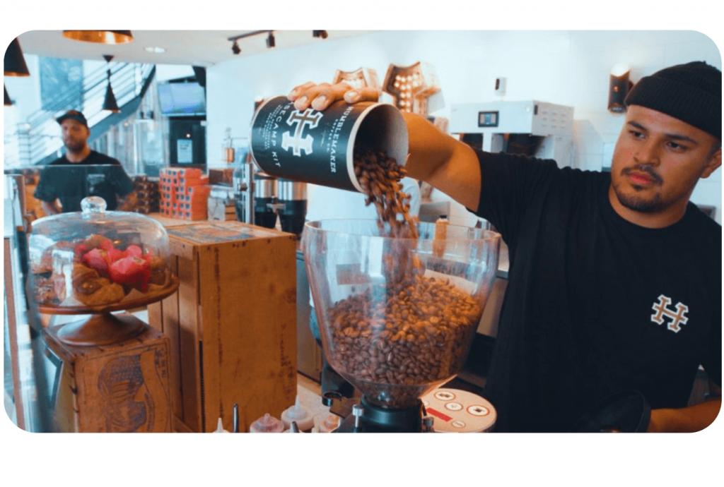 Humblemaker coffee using Kickfin